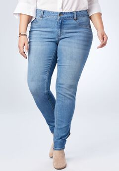 Perfect Curvy Jegging, LIGHT STONEWASH SANDED
