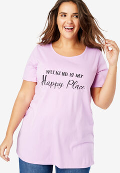 Short-Sleeve Graphic Tee, WEEKEND HAPPY PLACE