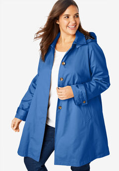 Hooded A-Line Raincoat,