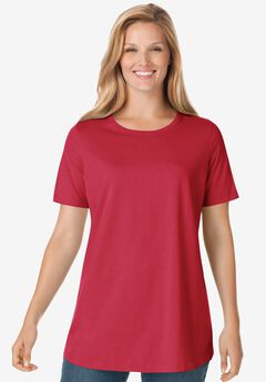 Perfect Crewneck Tee, CLASSIC RED