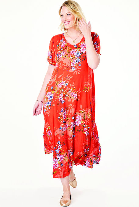 Crinkle Dress Plus Size Maxi Dresses Woman Within