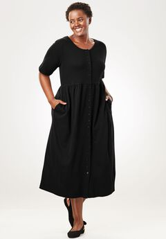 Empire knit dress by Only Necessities®, BLACK, hi-res