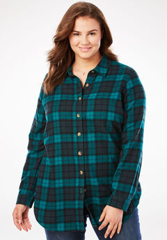 Classic Flannel Shirt, RICH JADE PLAID