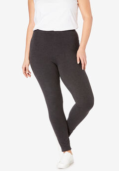 Stretch Cotton Legging, HEATHER CHARCOAL