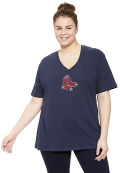 MLB® V-neck cotton tee ,
