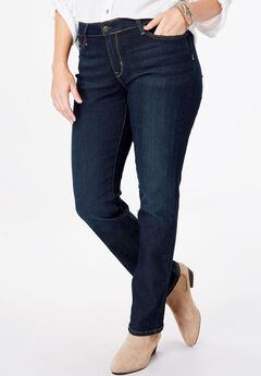 Signature by Levi Strauss & Co.™ Gold Label Women's Plus Mid-Rise Straight Jeans,