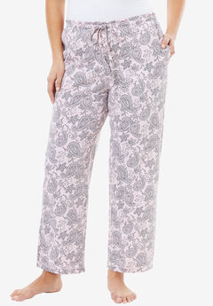Knit Sleep Pants by Dreams & Co.®, PINK PAISLEY, hi-res