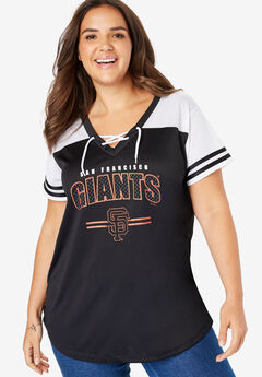 MLB Team Lace-Up Tee, GIANTS