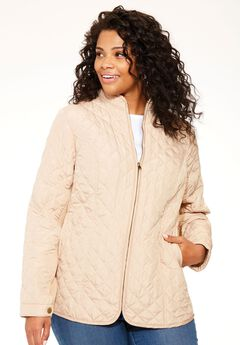 Long sleeve quilted jacket, DESERT SAND, hi-res
