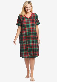 Print Sleepshirt , CLASSIC RED PLAID