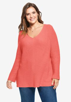 V-Neck Shaker Sweater,