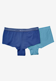 2-Pack Stretch Cotton Hipster by Comfort Choice®, BLUE PACK, hi-res
