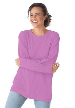 Top, sweatshirt in soft, colorful thermal knit,