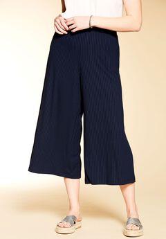 Rib Knit Gaucho Pant by Chelsea Studio®,
