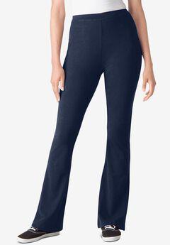 Stretch Cotton Bootcut Yoga Pant, NAVY
