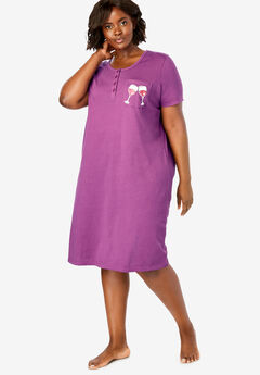 5d6218f87a Plus Size Sleepshirts for Women
