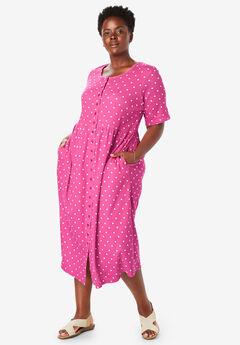 b264679417a Dot Button-Front Essential Dress
