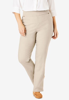 Straight Leg Smooth Waist Jean, NATURAL KHAKI
