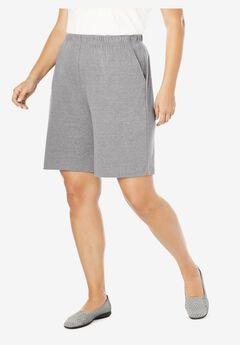 7-Day Knit Short, MEDIUM HEATHER GREY, hi-res