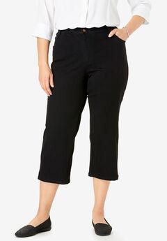 Capri Stretch Jean, BLACK DENIM