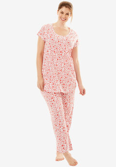 Print PJ Set by Dreams & Co.®, WHITE FLORAL, hi-res