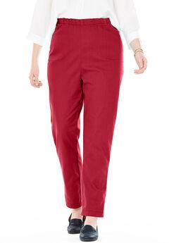Straight Leg Fineline Jean, STRAWBERRY RED