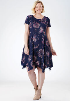 The Flowy Dress, NAVY PLAYFUL FLORAL