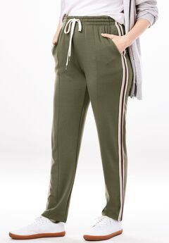 Front-Seam Fleece Pant,