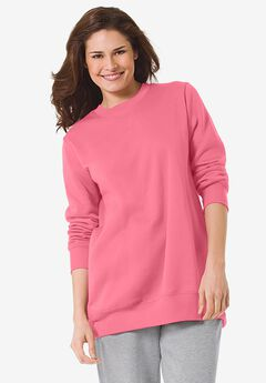 Fleece Sweatshirt, PRETTY PEONY