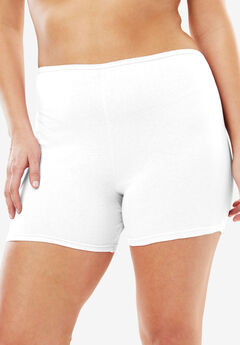 3-Pack Cotton Boyshort by Comfort Choice®, WHITE, hi-res