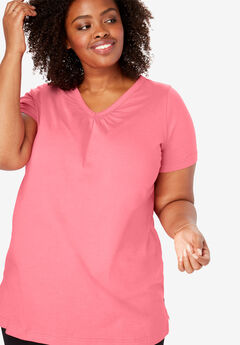 c6b2aaf0210 Perfect Shirred V-Neck Tunic