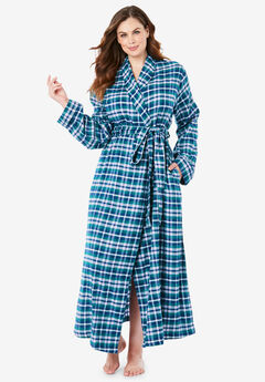Long Flannel Robe by Dreams & Co.®,