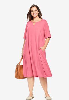 A-Line Keyhole Dress,