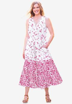 Sleeveless Surplice Maxi Dress,