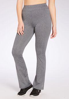 Yoga bootcut pants by FullBeauty SPORT®, GREY MELANGE, hi-res