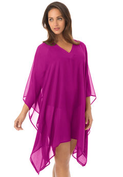 Caftan Beach Cover Up, RASPBERRY