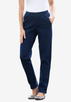 Straight Leg Fineline Jean, INDIGO