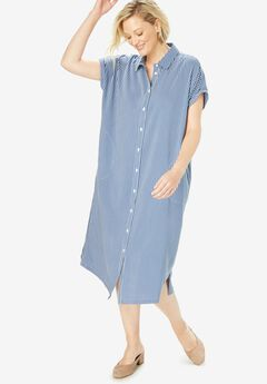 Midi Shirtdress,