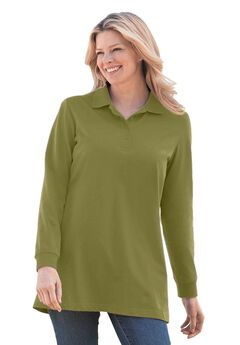 Perfect Long Sleeve Polo Tunic,