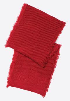 Frayed Rib Knit Scarf,
