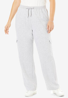 Better Fleece Cargo Sweatpant, HEATHER GREY