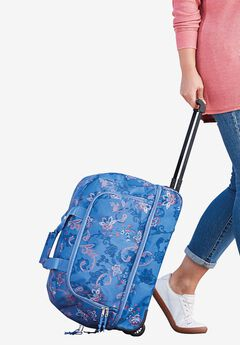 2-piece wheeled satchel & cosmetics bag,