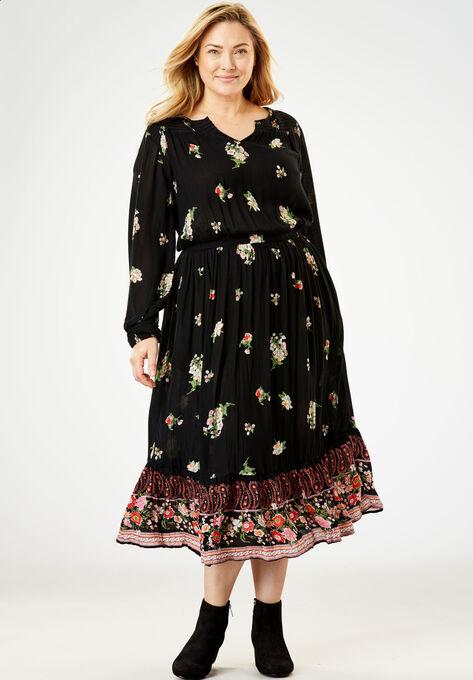 Peasant Crinkle Dress