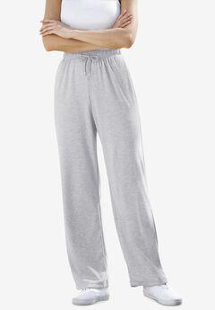 Sport Knit Straight Leg Pant, HEATHER GREY