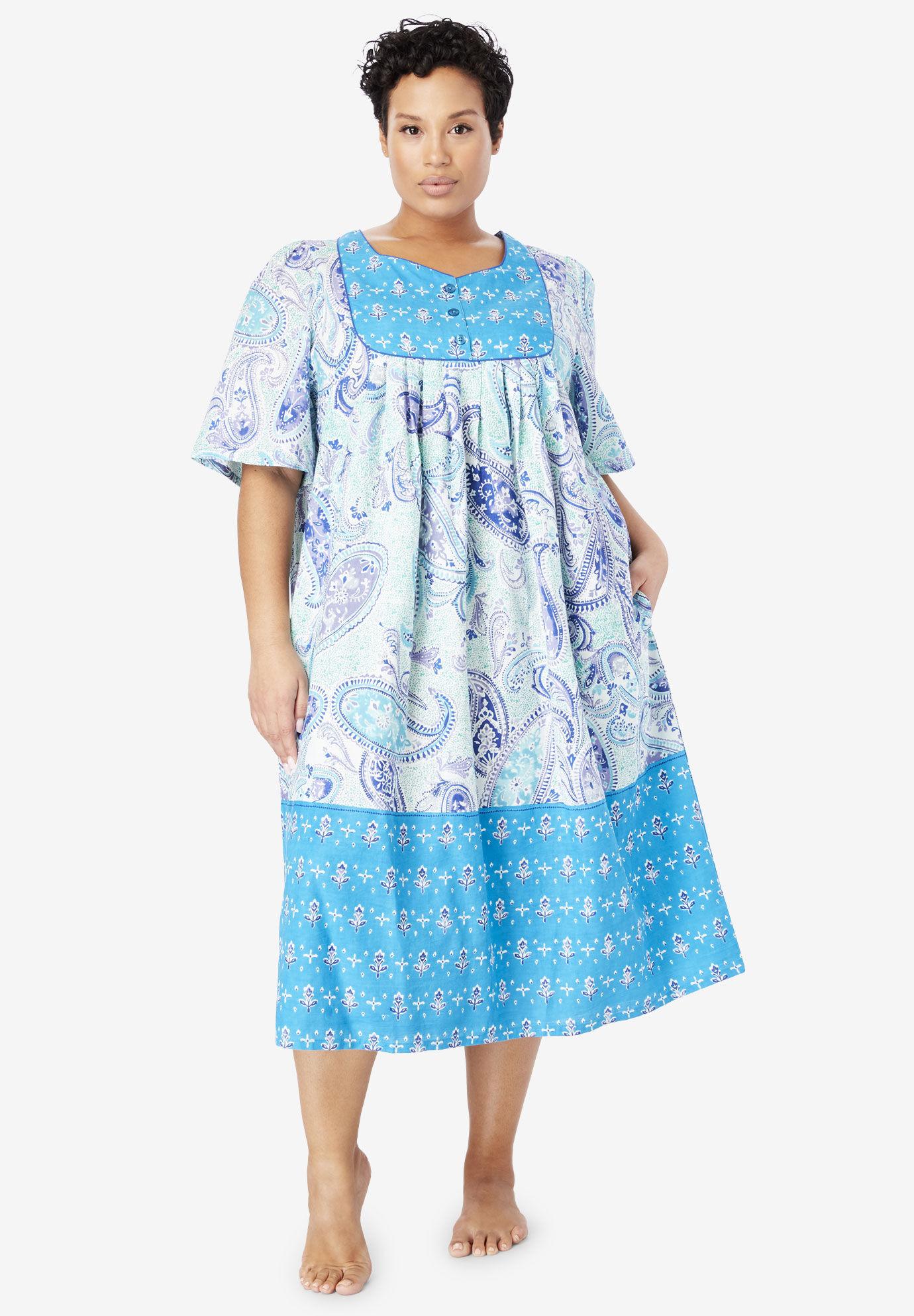 "Woman Within Yellow Capri Pant//Short Sleeve Pajama  Plus Size 2X Gift 62/"" BUST"