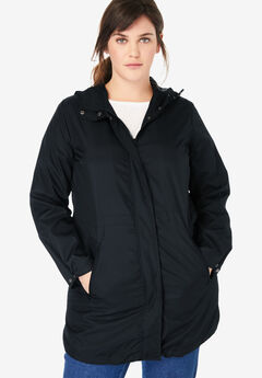 Packable Anorak Raincoat, BLACK, hi-res