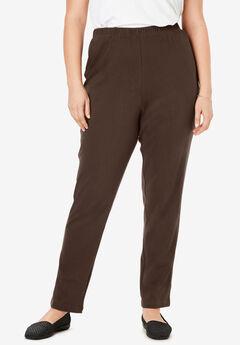 7-Day Knit Slim-Leg Pant, CHOCOLATE