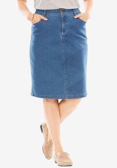 Tummy Tamer Skirt, LIGHT STONEWASH, hi-res