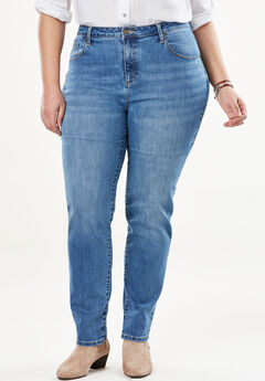 Perfect Straight Leg Jean, LIGHT STONEWASH SANDED