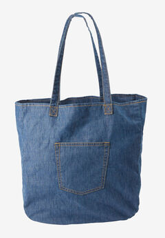 Denim Tote, MEDIUM WASH, hi-res
